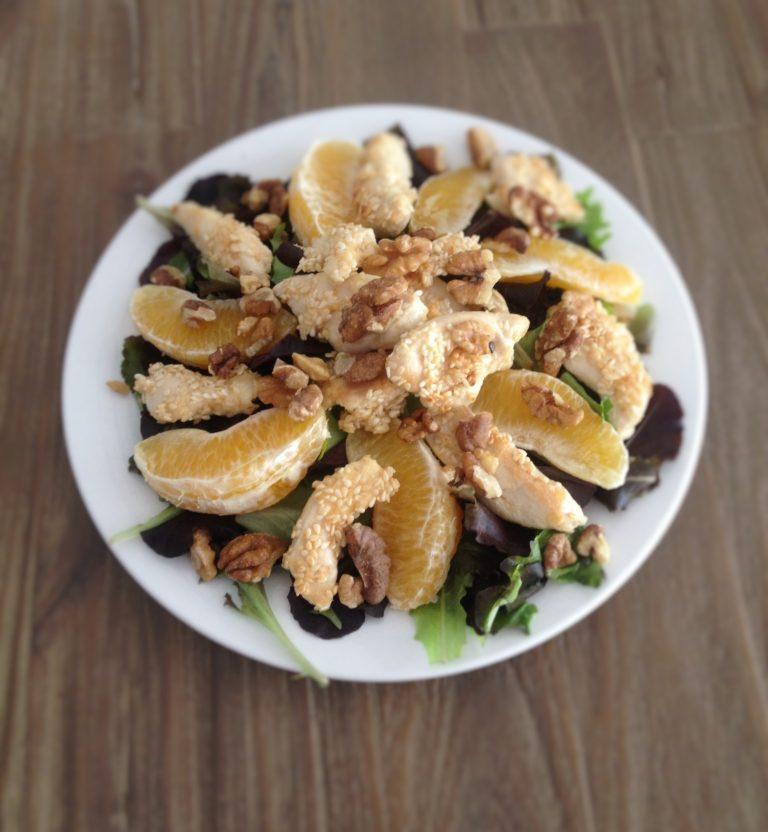 salade sinaasappel-kip