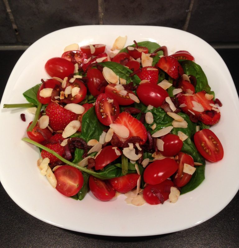 zomerse spinazie salade